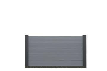 EURO WALL Composiet schutting grijs 100cm hoog